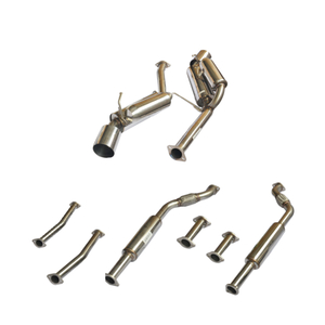 03-07 350Z HK Type 5 Dual Stainless Steel 201 Mirror Polished Exhaust System