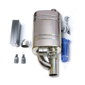 Universal Stainless Steel 304 Performance Remote Control Exhaust Muffler with Valve