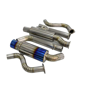 "4.5""BURNT TIP MUFFLER RACING HI-POWER CATBACK EXHAUST FOR 09-14 370Z Z34 VQ37VHR Titanium Alloy Exhaust System"